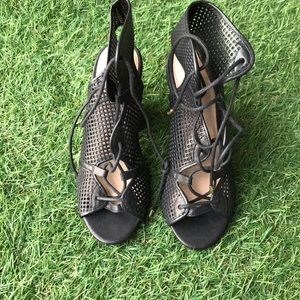 Aldo lace-up leather heels sandals size:6